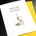 "Get Well  "" Little By Little ""  GW34 Greeting Card"