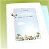 "Get Well  "" Good Thoughts ""  GW35 Greeting Card"