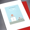 "Get Well  "" Ambulance ""  GW46 Greeting Card"