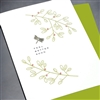 "Get Well  "" Dragon Fly & Branches ""  GW51 Greeting Card"