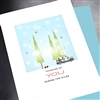 "Christmas  "" Across The Miles ""  HD05 Greeting Card"