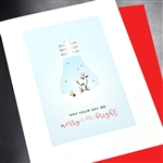 "Christmas  "" Merry & Bright ""  HD105 Greeting Card"
