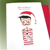 "Christmas  ""Boy With Glasses""  HD116 Greeting Card"