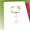 "Christmas  "" Merry & Blessed ""  HD120 Greeting Card"