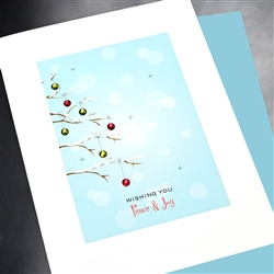 "Holiday "" Peace & Joy ""  HD15 Greeting Card"