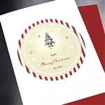 "Christmas  "" Merry Chirstmas Tree ""  HD29 Greeting Card"