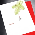 "Christmas  "" Star & Branch ""  HD35 Greeting Card"