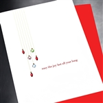 "Christmas  "" Joy All Year Long ""  HD51 Greeting Card"