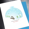 "Christmas  "" Santa Sleigh ""  HD84 Greeting Card"