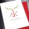 "Christmas  "" Stocking & Crystals ""  HD88 Greeting Card"