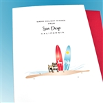 "Christmas  "" Surfer From San Diego ""  HDSD10 Greeting Card"