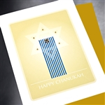 "Hanukkah "" Happy Chunukah ""  HK03 Greeting Card"