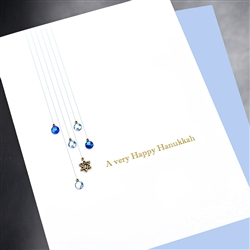 "Hanukkah  "" Crystals ""  HK04 Greeting Card"