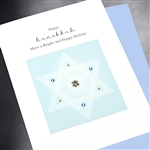 "Hanukkah "" Bright & Happy ""  HK08 Greeting Card"