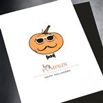 "Halloween  "" Pumpkin Head ""  HW27 Greeting Card"