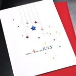 "4th Of July  "" Stars ""  IN07 Greeting Card"