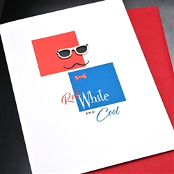 "4th Of July  "" Eyeglass ""  IN11 Greeting Card"