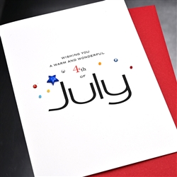 "4th Of July  "" Blue Star ""  IN13 Greeting Card"