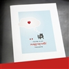 "Valentine's Day  "" Bull Dog ""  LV107 Greeting Card"