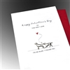 "Valentine's Day  "" 2 Dogs ""  LV108 Greeting Card"