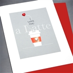 "Love  "" Latte ""  LV118 Greeting Card"