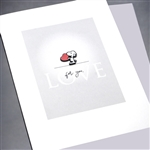 "Love  "" Snoopy ""  LV127 Greeting Card"