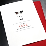 "Love  "" Love At First Sight ""  LV140 Greeting Card"