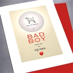 "Love  "" Bad Boy ""  LV27 Greeting Card"