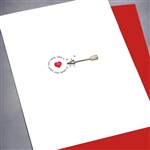 "Love  "" Silver Arrow ""  LV30 Greeting Card"