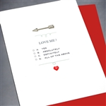 "Love  "" Love Me? ""  LV60 Greeting Card"