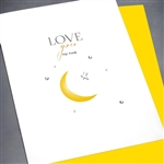 "Love  "" Love You To The Moon ""  LV80 Greeting Card"