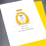 "Love  "" Love You Honey ""  LV82 Greeting Card"