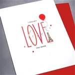 "Love  "" Love You More ""  LV90 Greeting Card"