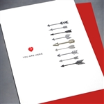 "Love  "" Arrow ""  LV96 Greeting Card"
