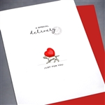 "Love  "" Dog & Heart ""  LV99 Greeting Card"