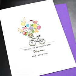 "Mother's Day  "" Bicycle ""  MD149 Greeting Card"