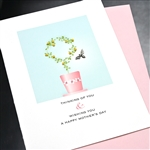 "Mother's Day  "" Thinking ""  MD68 Greeting Card"