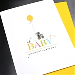 "New Baby  "" Oh Baby ""  NB13 Greeting Card"
