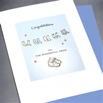 "New Baby  "" Baby Shoes ""  NB14 Greeting Card"