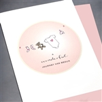 "New Baby  "" Baby Girl Teddy Bear ""  NB22 Greeting Card"
