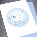 "New Baby  "" Baby Boy Teddy Bear ""  NB23 Greeting Card"