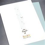 "New Baby  "" Umbrella ""  NB27 Greeting Card"