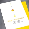 "New Baby  "" Baby Shower Yellow Bird ""  NB42 Greeting Card"