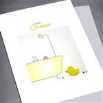 "New Baby  "" Yellow Duck ""  NB47 Greeting Card"