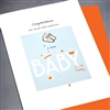 "New Baby "" Baby Shoes / Boy ""  NB55 Greeting Card"