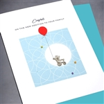 "New Baby "" Baby Rattle / Boy ""  NB56 Greeting Card"