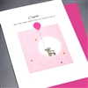 "New Baby "" Baby Rattle / Girl ""  NB56 Greeting Card"