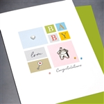 "New Baby "" Love Baby ""  NB59 Greeting Card"