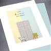"New Home Anniversary  "" Door & Dog ""  NH19 Greeting Card"