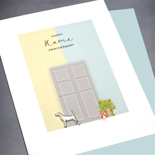 Buy new home anniversary door dog greeting card new home our m4hsunfo